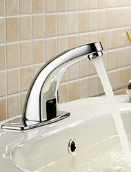 Solid Brass Bathroom Sink Faucet with Automatic Sensor(Cold)
