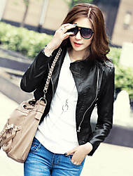 Fashion Collection Slim Fit PU Motor Jacket