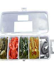 Soft Bait Shrimp/Worm/Hook /Fishing Lure Packs (26pcs)