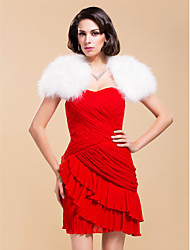 Wedding Feather/Fur Coats/Jackets Short Sleeve Fur Wraps