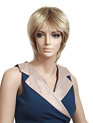 Capless High Quality Synthetic Straight Short Blonde Wigs