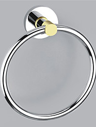 Moderno stile Chrome Wall finitura in lega di zinco montati Asciugamano Anelli (Shape Circle)