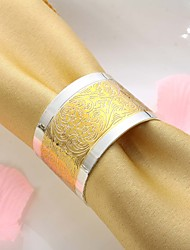 Pretty Floral Design Gold Plated Napkin Ring