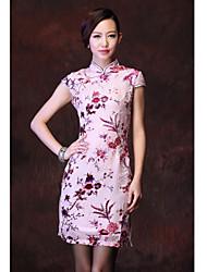 Donna High End vestito di seta cinese Mulberry