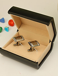 Gift Groomsman Personalized Silver Cufflinks With Gift Box