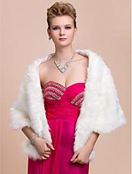 Fine piel sintética de noche / Vestido de novia Mantilla