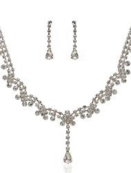 Ensemble Bijoux de Mariée - Superbe Alliage magnifique avec Strass Tchèque Inclus Collier + Boucles d'Oreilles