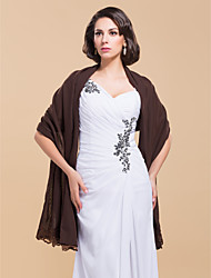 Élégante en mousseline de soie en dentelle de mariée / soirée châle (plus de couleurs)