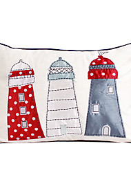 Cartoon House Cotton Decorative Pillow Cover