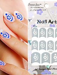 3PCS смешанного стиля Paper Nail Art Stamp Изображение Наклейки LK Серия № 23