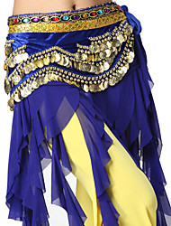 Belly Dance Belt Women's Velvet Coins / Crystals/Rhinestones 1 Piece Natural Hip Scarf