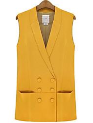 Women's Lapel Double Breasted Waistcoat