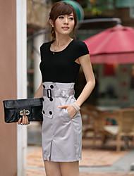 EVRAY costura Vestido de cintura alta