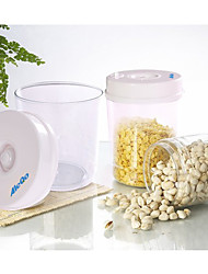 1L Vacuum Snack Jar Storage Bottle with Pump