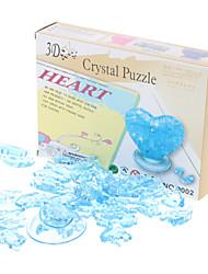 Cadeau de Coeur 3D Crystal Puzzle Saint-Valentin (46pcs, Modèle: 9001, couleur aléatoire)