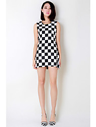 Women's Checker Board Tank Dress