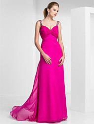Sheath/Column Sweetheart Floor-length Chiffon Evening/Prom Dress