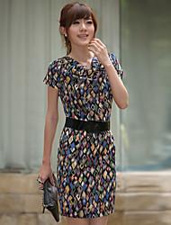 EVRAY Cowl Collar Print Dress