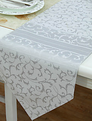 Classic Polyester Cotton Blend Jacquard Floral Table Runners