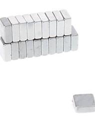20pcs 5x5x2mm Magnetic Magic Cube (Silver)