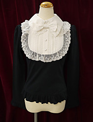 Long Sleeve Cotton School Lolita Blouse with Lace