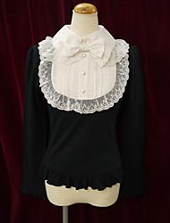 Blusa/Camisa Doce Lolita Cosplay Vestidos Lolita Rosa Preto Branco Miscelânea Manga Comprida Lolita Blusa Para Algodão