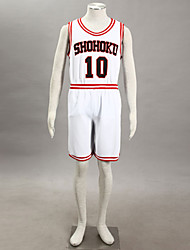 косплей костюм вдохновлен Slam Dunk Hanamichi Sakuragi shohoku средней школе баскетбольную команду равномерный белый № 10