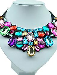 Women's Statement Necklaces Resin Rhinestone Imitation Diamond Alloy Handmade Costume Jewelry Fashion Colorful Jewelry For Wedding Party