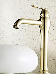Ti-PVD Finish Centerset Antique Style Brass Bathroom Sink Faucets