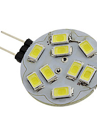 1.5w g4 led spot 9 smd 5730 110-120 lm blanc naturel dc 12 v