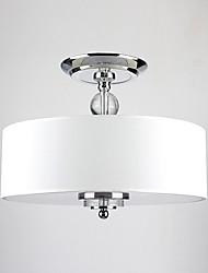 Max 60W Modern/Contemporary / Drum Mini Style Chrome Pendant Lights Living Room / Bedroom / Dining Room / Hallway