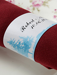 Personalized Paper Napkin Ring - Forest (Set of 50)