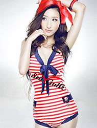 Uma peça-Stripes Swimwear