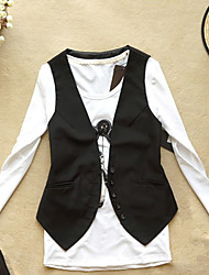 Women's Button Through Solid Color Slim Vest