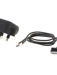 2-IN-1 Auto Charger for iPad,iPhone 4/4S, Samsung P1000 with Charge Sync Cable