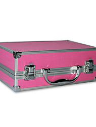 En alliage d'aluminium à double pont verrouillable maquillage professionnel Cosmetic Case Box 25.6 * 16.6 * 9.5cm