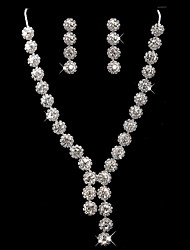 Alloy With Rhinestones Wedding Jewelry Set,Including Necklace And Earrings