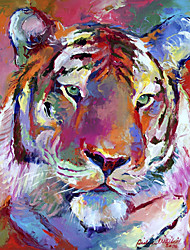 Stretched Canvas Art Animal Tiger by Richard Wallich Ready to Hang