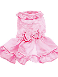 Dog Dress Pink Spring/Fall Solid Wedding