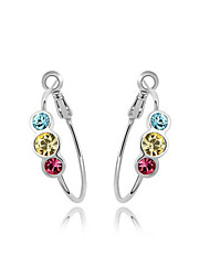 Charming Alloy Round Crystal Hoop Earring (mehr Farben)