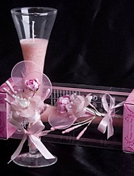 Wedding Décor Pale Pink Rose & Calla Lily Glass Candle Holder