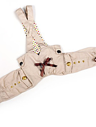 Trend All-match War Industry Style Suspender Trousers for Dogs (XS-XL)