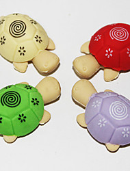 desmontables de goma de borrar en forma de tortuga (2pcs color al azar)