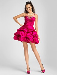 Cocktail Party / Homecoming / Prom / Sweet 16 Dress - Plus Size / Petite A-line / Ball Gown / Princess Sweetheart / Spaghetti Straps