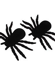 Araignées heureuses de décoration d'Halloween (2 inclus, couleurs assorties)