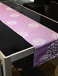 Violet Floral Table Runner Coton