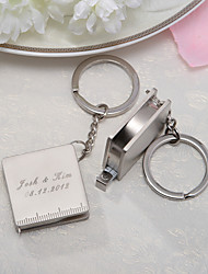 Personalized Stainless Steel Ruler Design Keyring (Set of 4 Pieces)