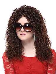 Capless High Quality Synthetic Brown Long Screw Curly Hair Wigs