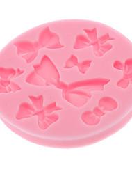 DIY cuisson 3D bowknot style Cookie Biscuit Mold (couleur aléatoire)