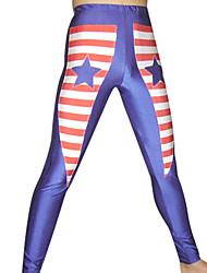 Blue Stars and Stripes Spandex Pants